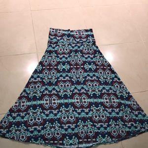 🐚3/$15 LuLaRoe maxi skirt Sz. XL